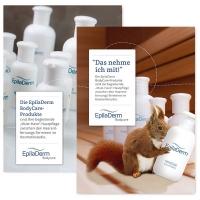 A4-Poster: BodyCare-Produkte & Eichhörnchen